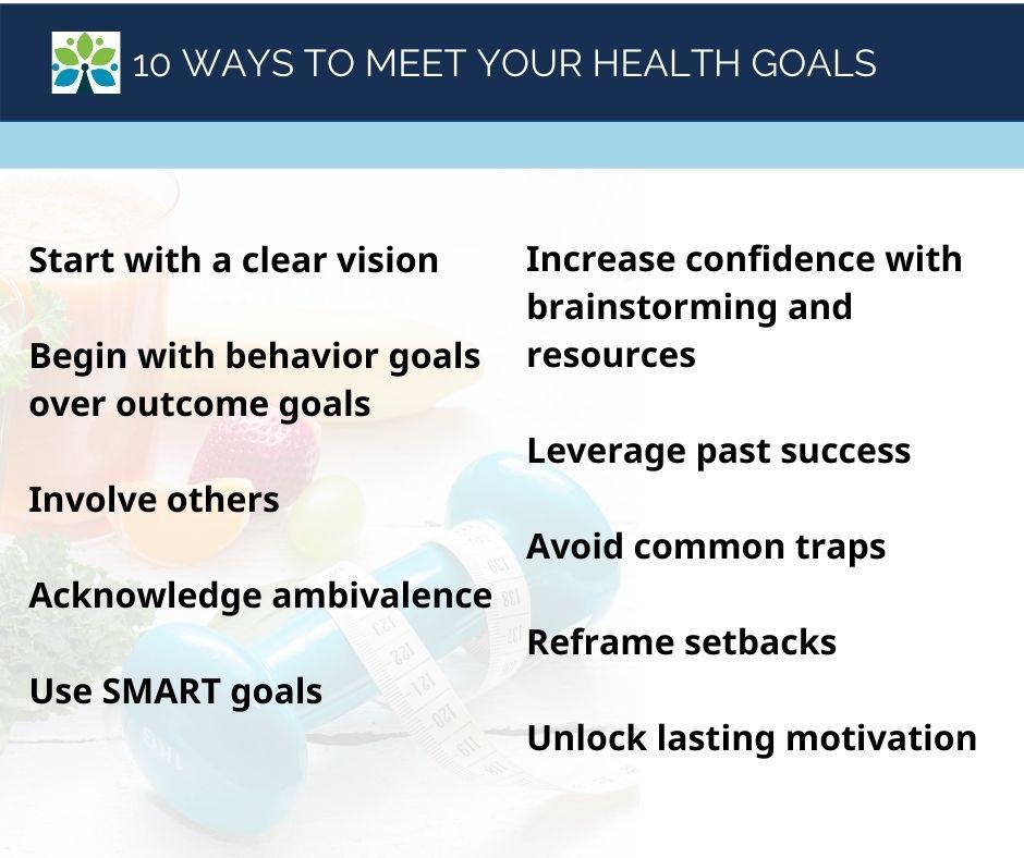 10 ways to meet your health goals Saint Louis Functional Medicine